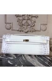 Top Quality Hermes Himalaya Crocodile Kelly Cut Clutch Bag HJ00133