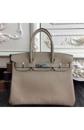 Wholesale Hermes Birkin 30cm 35cm Bag In Grey Clemence Leather HJ01194