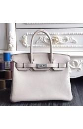 1:1 Hermes Birkin 30cm 35cm Bag In White Clemence Leather HJ01252
