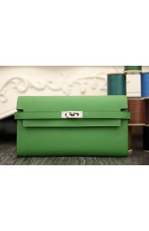 1:1 Hermes Kelly Longue Wallet In Bamboo Epsom Leather HJ01233
