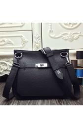 AAA Hermes Black Large Jypsiere 34cm Bag HJ00481