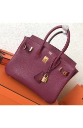 AAA Hermes Ruby Clemence Birkin 25cm Handmade Bag HJ00963