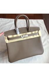 AAA Replica Hermes Etoupe Epsom Birkin 25cm Handmade Bag Replica HJ00108
