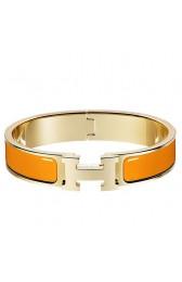 Best Cheap Knockoff Hermes Orange Enamel Clic H PM Bracelet HJ00343