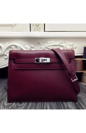 Best Fake Hermes Kelly Danse Bag In Bordeaux Swift Leather HJ01267