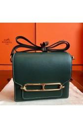 Best Quality Copy Hermes Mini Sac Roulis Bag In Green Swift Leather Replica HJ01311