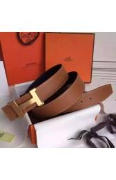 Best Replica Hermes Brown Epsom Kits Belt Constance Buckle HJ00825