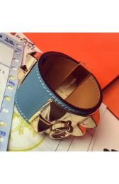 Best Wholesale Hermes Blue Jean Epsom Collier De Chien Bracelet Size S HJ01207