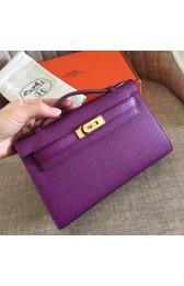 Cheap Imitation Top Replica Hermes Cyclamen Epsom Kelly Pochette Handmade Bag HJ01240