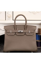 Cheap Knockoff Hermes Birkin 30cm 35cm Bag In Etoupe Clemence Leather HJ00827