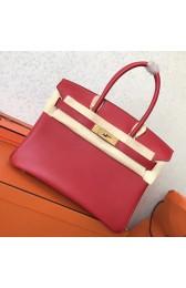Copy AAA Hermes Red Swift Birkin 30cm Handmade Bag HJ01024