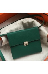 Copy Hermes Green Clic 16 Wallet With Strap HJ00777