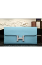 Copy Perfect Hermes Constance Wallet In Light Blue Epsom Leather HJ00793