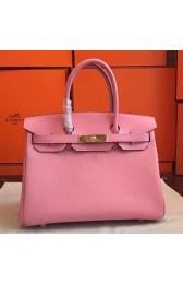 Designer Imitation Hermes Pink Epsom Birkin 35cm Handmade Bag HJ00910