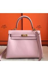 Fake Best Cheap Hermes Rose Dragee Swift Kelly Retourne 28cm Handmade Bag HJ00142
