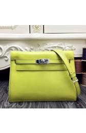 Fake Faux Hermes Kelly Danse Bag In Yellow Swift Leather HJ00410