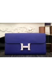 Fake Hermes Constance Wallet In Electric Blue Epsom Leather HJ00850