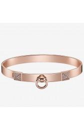 Fake Hermes Rose Gold Collier De Chien Bracelet HJ00842