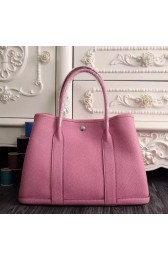 Fake Hermes Small Garden Party 30cm Tote In Pink Leather HJ00830
