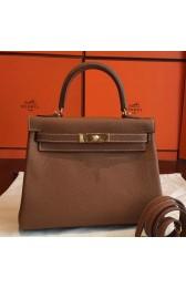 Faux High End Hermes Gold Clemence Kelly Retourne 28cm Handmade Bag HJ00778