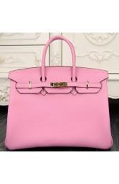 Hermes Birkin 30cm 35cm Bag In Pink Clemence Leather HJ01112