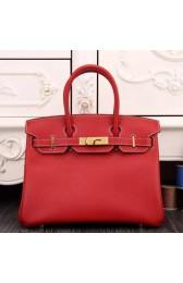 Hermes Birkin 30cm 35cm Bag In Red Epsom Leather HJ00925