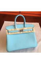 Hermes Blue Atoll Epsom Birkin 25cm Handmade Bag Replica HJ01093