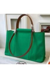 Hermes Cabag Elan Bag In Bamboo Canvas HJ00349