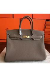 Hermes Etoupe Clemence Birkin 40cm Handmade Bag HJ00591
