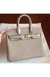 Hermes Grey Clemence Birkin 25cm Handmade Bag Replica HJ00968