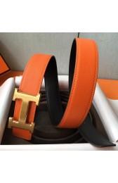 Hermes H Belt Buckle & Orange Epsom 32 MM Strap Replica HJ00845