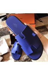 Hermes Izmir Sandals In Electric Blue Epsom Leather Replica HJ00972