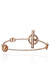 Hermes LG Rose Gold Farandole Bracelet HJ00165