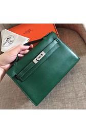 Hermes Malachite Swift Kelly Pochette Handmade Bag HJ00586