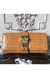 Hermes Medor Clutch Bag In Camarel Crocodile Leather Replica HJ00087