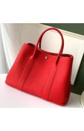 Hermes Red Fjord Garden Party 30cm With Printed Lining HJ00839