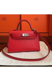 Hermes Red Swift Kelly Mini II 20cm Handmade Bag HJ00727
