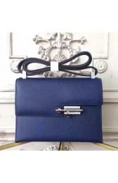 Hermes Sapphire Epsom Verrou Shoulder Handmade Bag Replica HJ00174