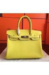 Hermes Soufre Epsom Birkin 30cm Handmade Bag HJ01007