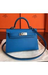 High Imitation Designer Replica Hermes Mykonos Epsom Kelly Mini II 20cm Handmade Bag HJ00831