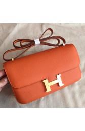 High Imitation Hermes Orange Epsom Constance Elan 25cm Bag HJ00835