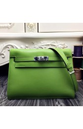 High Imitation Knockoff Hermes Kelly Danse Bag In Green Swift Leather HJ00053