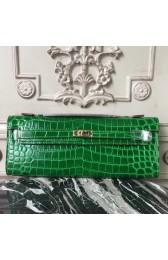 High Quality Copy Hermes Bambou Crocodile Kelly Cut Clutch Bag HJ01354