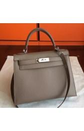 High Quality Fake Hermes Etoupe Epsom Kelly 32cm Sellier Handmade Bag HJ00942