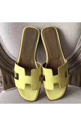 High Quality Hermes Oran Sandals In Soufre Epsom Leather HJ00888