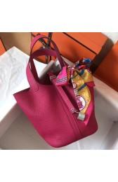 High Quality Hermes Peach Picotin Lock PM 18cm Handmade Bag HJ00482