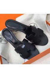 High Quality Replica High Quality Hermes Black Epsom Oasis Sandals HJ01001