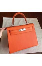 Hot High Quality Hermes Orange Epsom Kelly Sellier 28cm Handmade Bag HJ00527