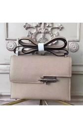 Imitation AAA Discount Hermes Grey Epsom Verrou Shoulder Handmade Bag HJ00893