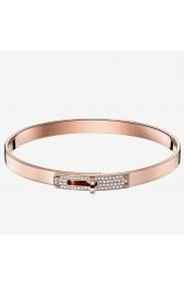 Imitation AAA Hermes Rose Gold Small Kelly Bracelet With Diamonds HJ00696